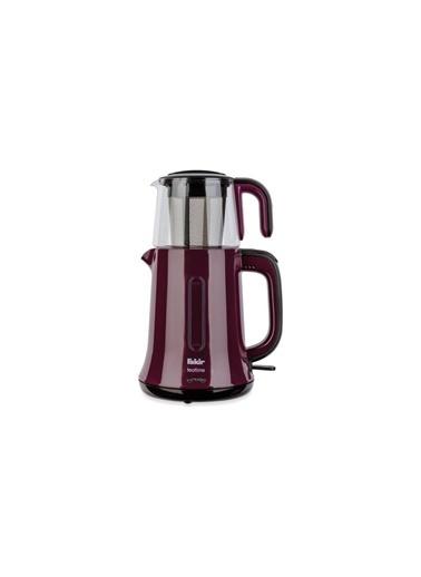 Fakir Tea N More Cam Demlikli Kırmızı Çay Makinesi Renkli